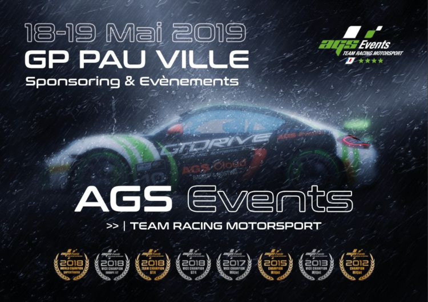 Grand Prix de Pau : volant à pourvoir chez AGS Events